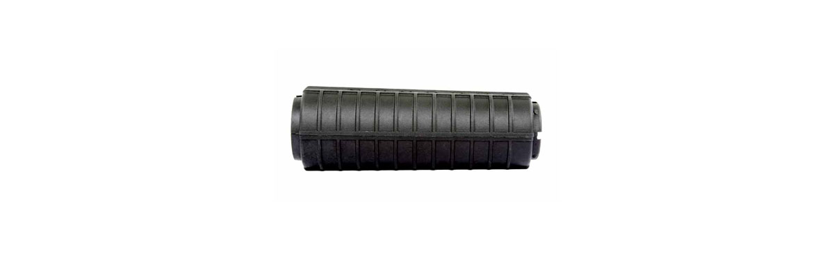 "AR-10® / M-15™ 6"" BLACK CARBINE HANDGUARD WITH DOUBLE HEAT SHIELD"