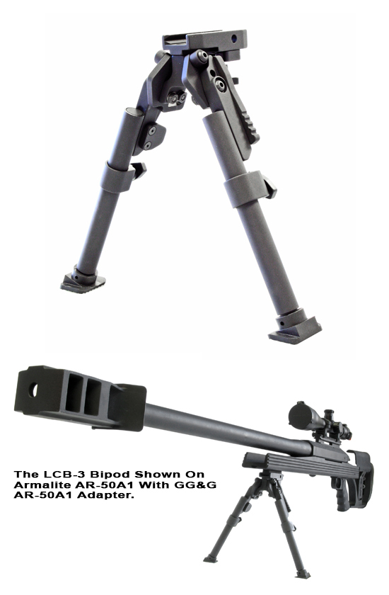 AR-50A1™ HEAVY DUTY BIPOD WITH ADAPTER